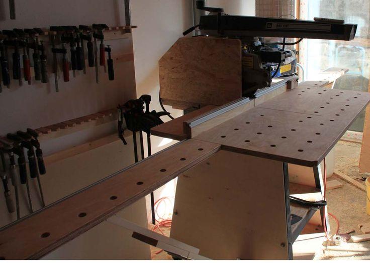die besten 25 radialarms ge ideen auf pinterest workshop ideen werkstatt und. Black Bedroom Furniture Sets. Home Design Ideas