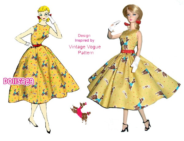 Bon Vivant dress for silkstone barbie: