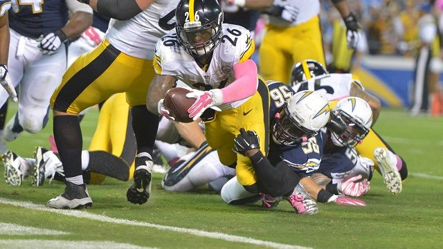 VIDEOS: NFL Scoreboard Stats Standings Teams Players Odds ClockGate: Le'Veon Bell's Walkoff TD Saves NFL From Controversy (Videos) by Pat Bradley on Tue, Oct 13, 2015 at 12:28AM  -   Le'Veon Bell's late touchdown not only saved the Pittsburgh Steelers, it saved the NFL. Kind of. The Pittsburgh Steelers running back had the weight of his team on his shoulders Monday night, and h...