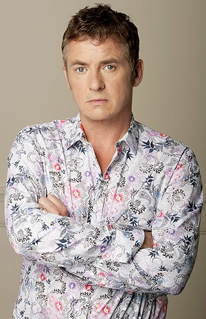 Shane Richie (Alfie Moon), of The Eastenders. Bartender of the Queen Vic.  His biggest challenge - being married to Kat. . .