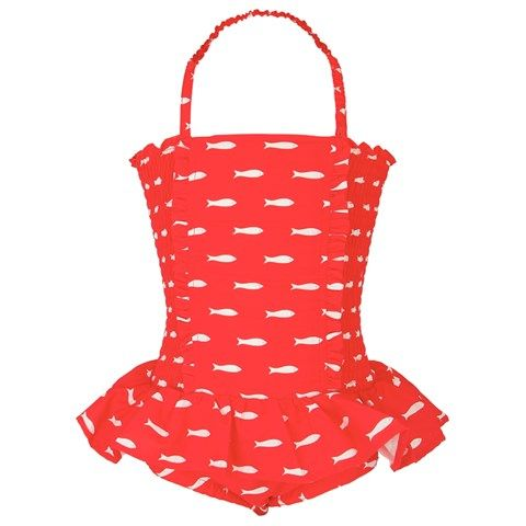 Rachel Riley Fish Print Swimsuit