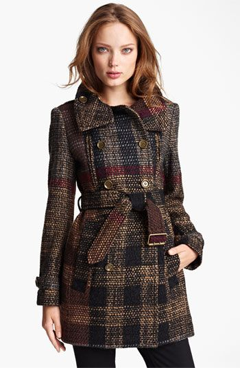Burberry Brit Double Breasted Wool Blend Coat | Nordstrom