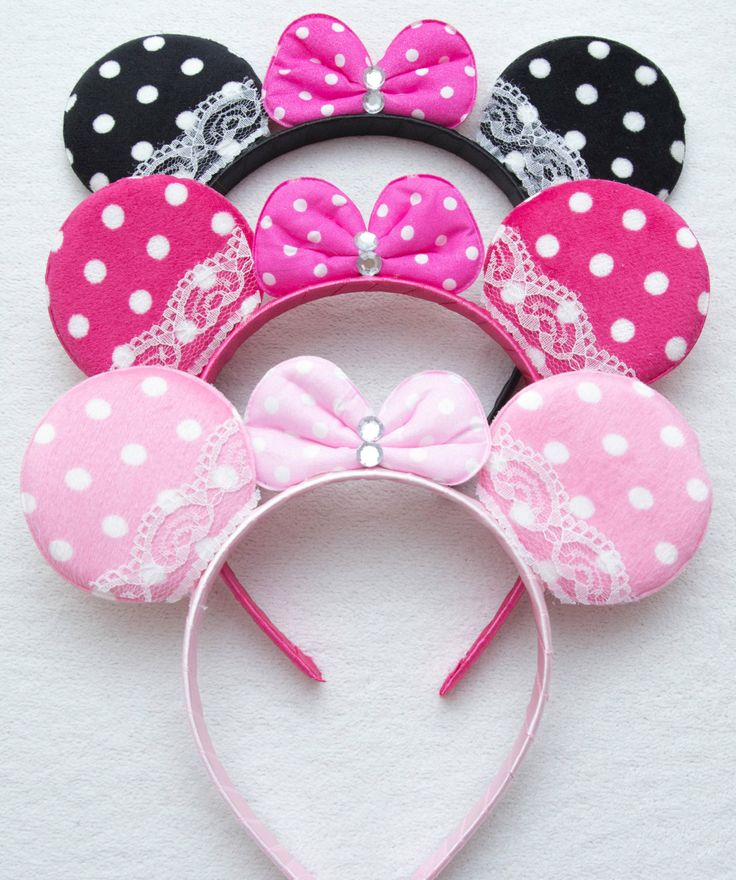 Minnie Mouse Ears Headband_ for Picture Dress by AmazonOfHandmade, $3.99