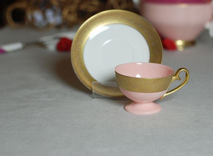 Filiżanka Ewa espresso Królewska złoto (różowa porcelana) Ewa espresso Royal cup  gold decoration (pink porcelain)