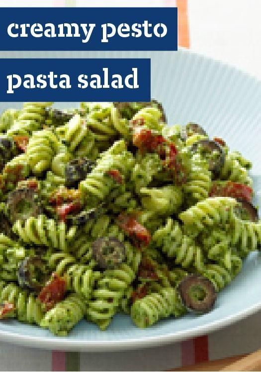 Kraft Creamy Pesto Pasta Salad, Pestopasta, Basil Recipe, Pasta Salad ...