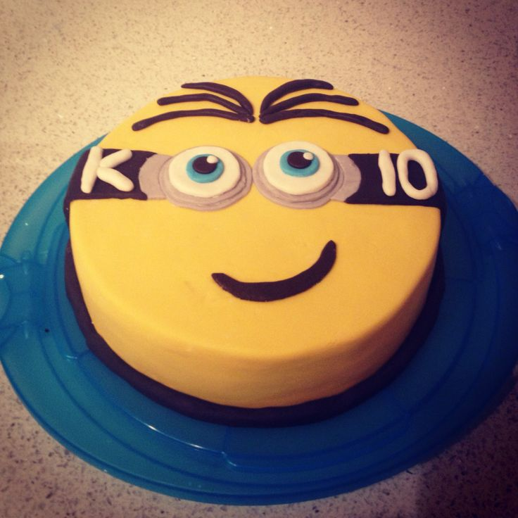 Minion Cake for my sons 10th birthday (my first ever cake)