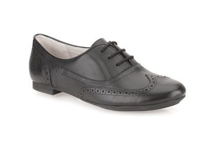 Clarks Carousel Trick, Black Leather, Womens Smart Shoes