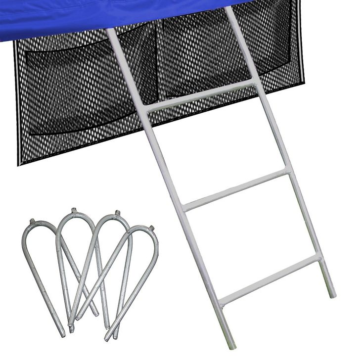 Skywalker Trampolines Accessory Kit with Ladder, Wind Stakes, and Storage Bag