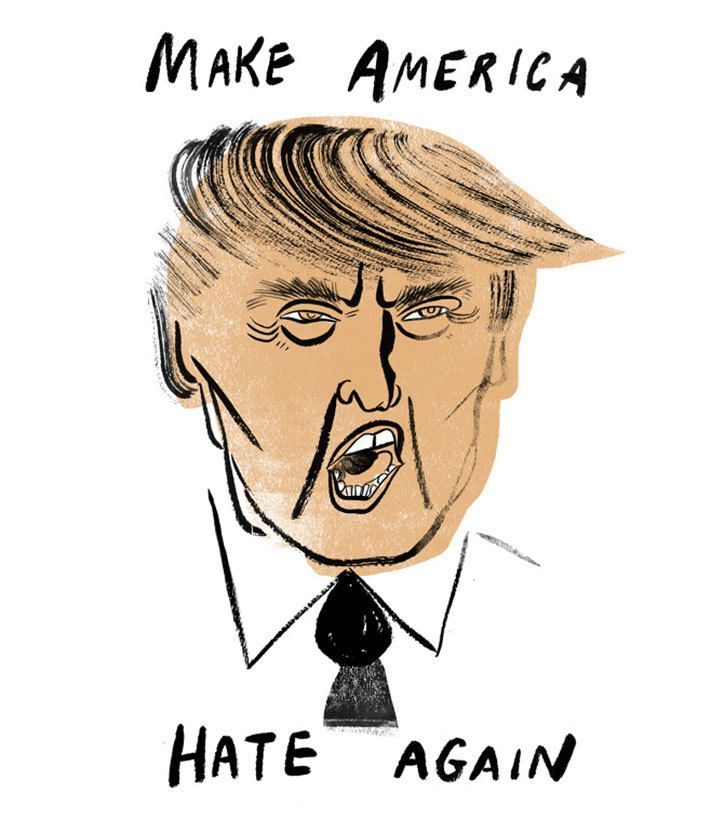 Donald Trump illustration by Sarah Tanat Jones