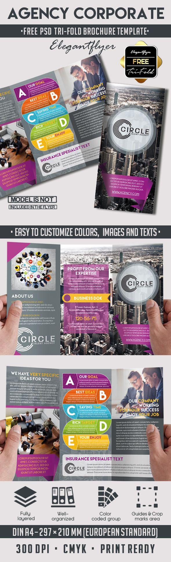 agency free psd tri fold psd brochure template