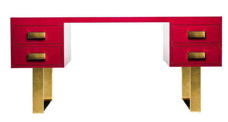 #vittoriale writing desk, design by Valentina Fontana for #altreforme, #Novecento collection, #interior #home #decor #homedecor #furniture #aluminium #woweffect #madeinItaly