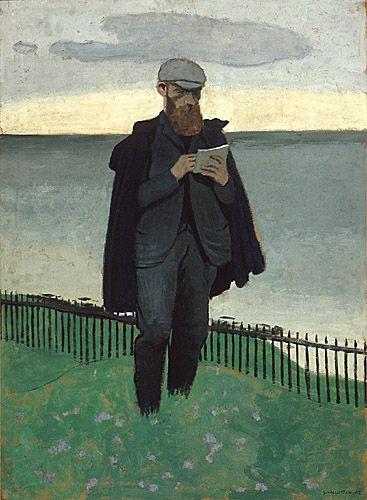"""Félix Vallotton 1902 """"Vuillard Drawing at Honfleur"""" : Vuillard vu par Vallotton"""