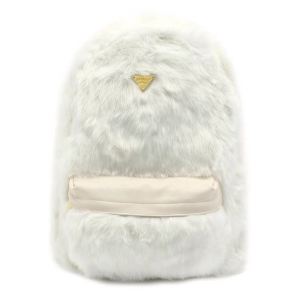 """NWT Joyrich Candy Fur White Backpack New with tags furry white backpack by Joyrich. Measures 18""""x15"""" and made of 80% acrylic and  20% polyester. Joyrich Bags Backpacks"""