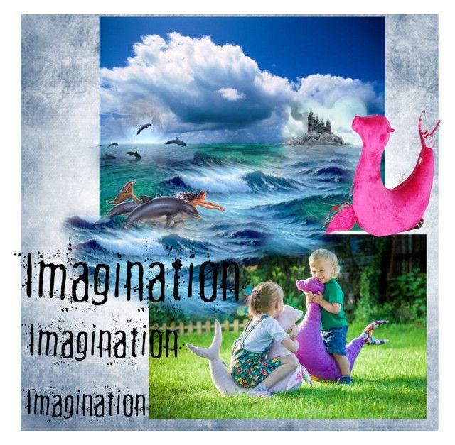 """""""Imagination"""" by landoflaces on Polyvore featuring sztuka, fantasy, kids, handmade i polishproducts"""