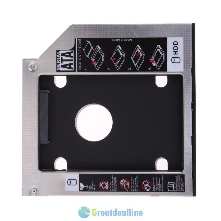 "2.5""/9.5mm Universal SATA 2nd HDD SSD Hard Drive Caddy forCD/DVD-ROM Optical Bay"