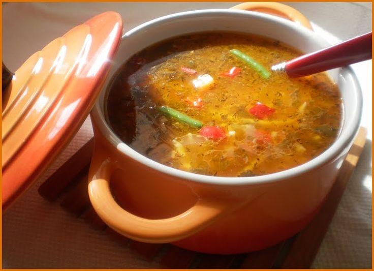 Bucataresele Vesele-retete culinare,retete ilustrate: Ciorba de gasca cu legume