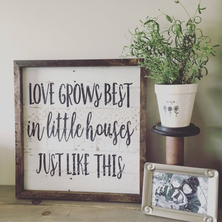 love grows best in little houses love grows best sign shiplap inspired sign - Home Decor For Sale
