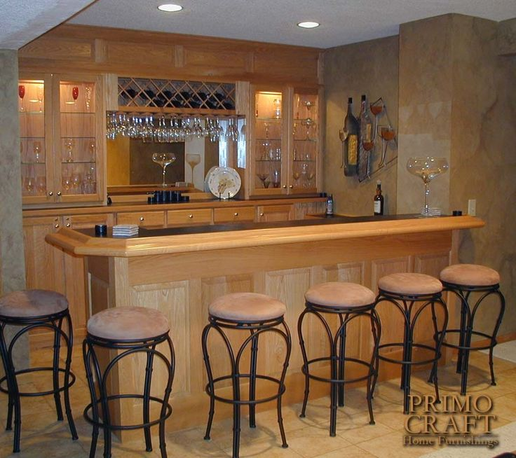 Home Bars And Back Bars | McNulty Custom Wood Home Bar