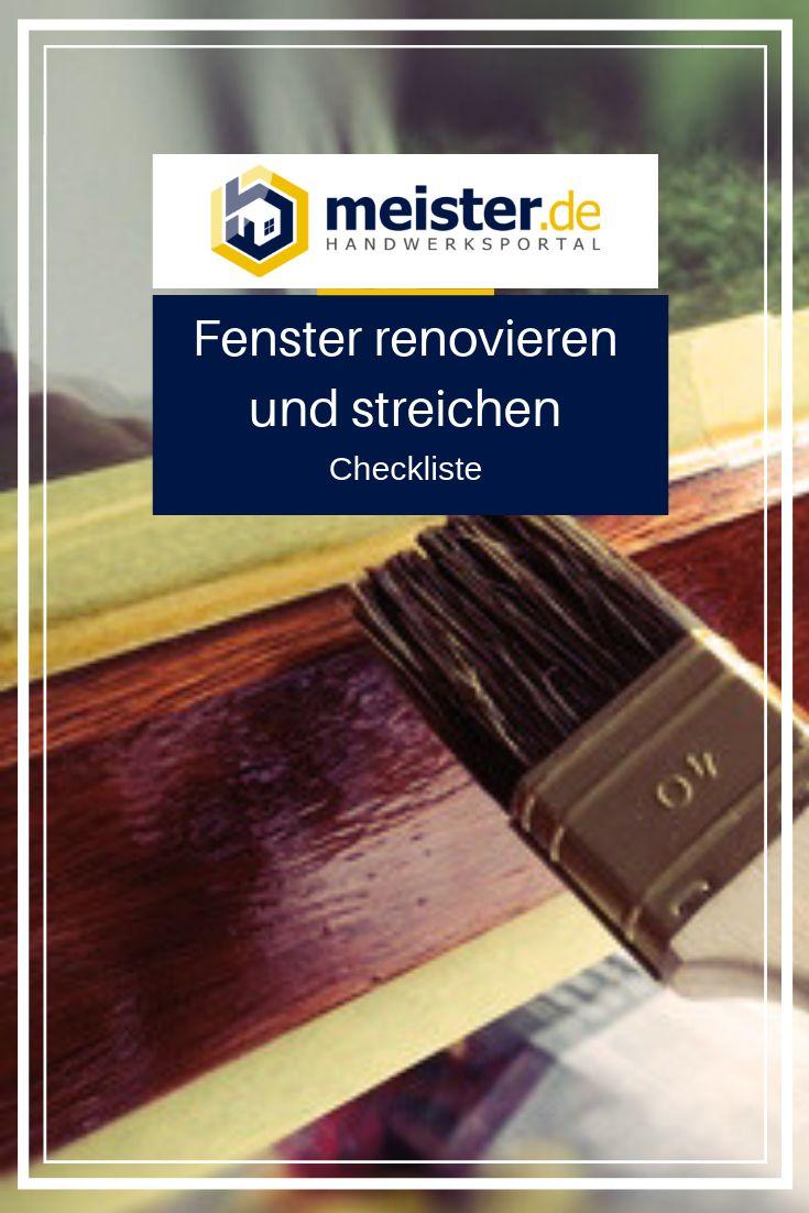 Checkliste: Fenster renovieren und streichen