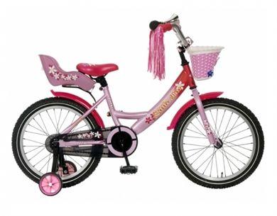 Little Miss meisjesfiets Roze Popal 18 inch