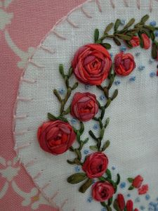 Ribbonwork embroidery by Jessica Aldred