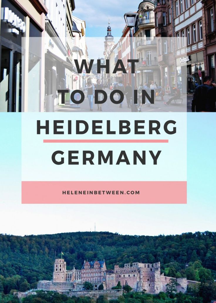 What to Do in Heidelberg, Germany - the prettiest European city you've never been to! See the castles, shops, eat, and more for a full guide on Heidelberg, Germany.