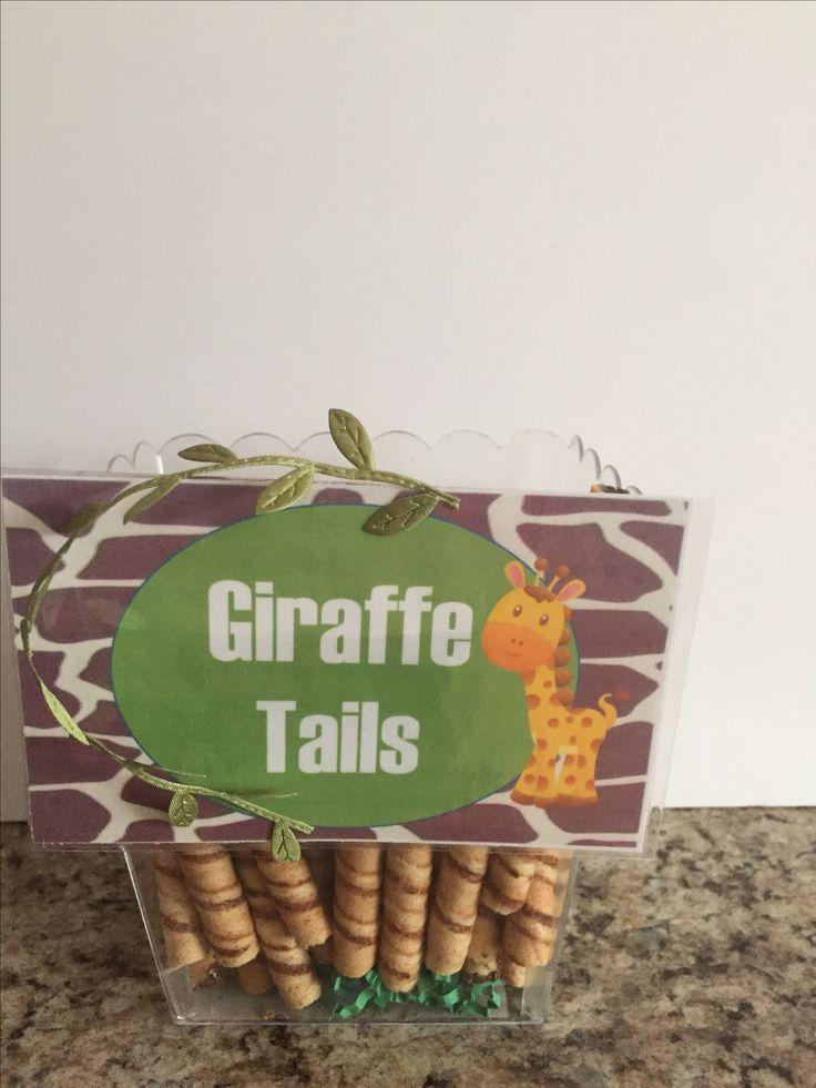 Jungle Giraffe Tail Cookies