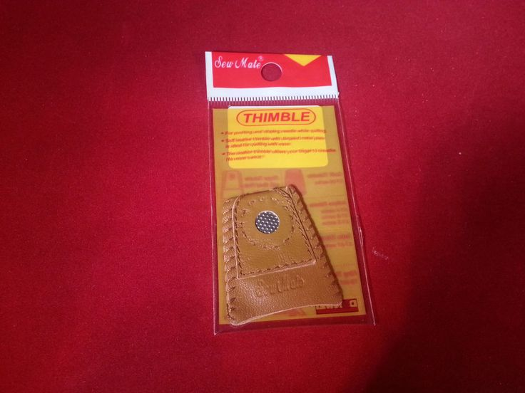 New Sew mate, Leather thimble. Soft leather with dimple metal coin. Thimble allows your finger to breathe. Comfortable, protection for your finger. You will receive 1 thimble in size Large . | eBay!