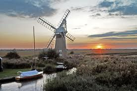 Sunset over the Norfolk Broads & Windmill. Stallam and Wroxham in norfolk, very special x