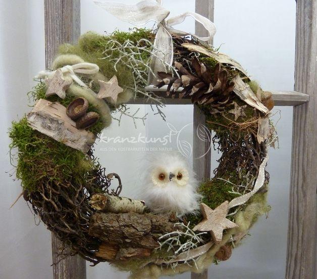 Adventskranz - NATUR ♥Wald-Weihnacht♥ Weihnachtskranz Türkranz - ein…