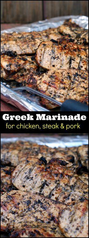 Greek Marinade for Chicken, Steak & Pork | Aunt Bee's Recipes