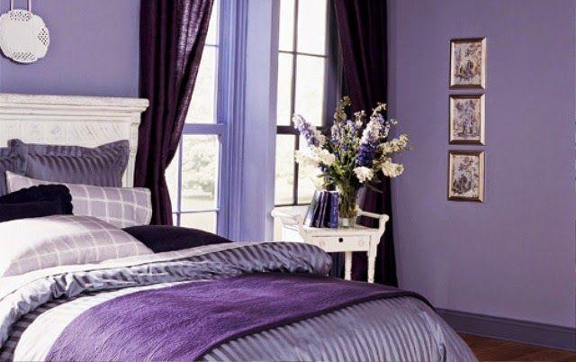 Amethyst orchid purple violet bedroom wall color