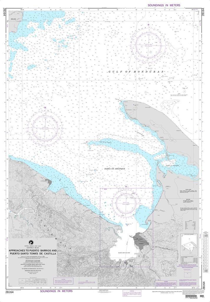 NGA Chart 28164: Approaches to Puerto Barrios and Puerto Santo Tomas de Castilla (Guatemala-Belize)