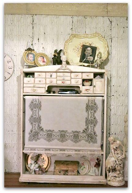 Bookshelf to big screen TV cabinet redo (from Karla's Cottage)