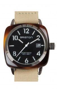 montre BRISTON écaille de tortue – cadran noir