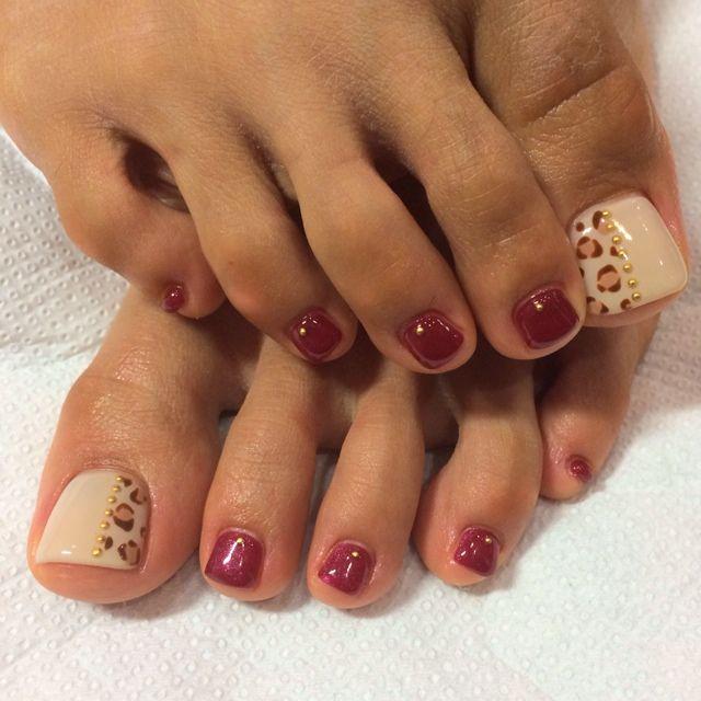 AnimalPrint Toe Nail Art
