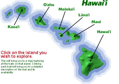 guide to trails & hikes in the Hawaiian islands