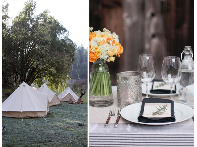 Let's Go #Glamping for Your Wedding! on I Do Venues featuring @Shelter Co. Camp Navarro, Little Venice island, Coastanoa and El Capitan Canyon campgrounds  Photos Courtesy of @Shelter Co.