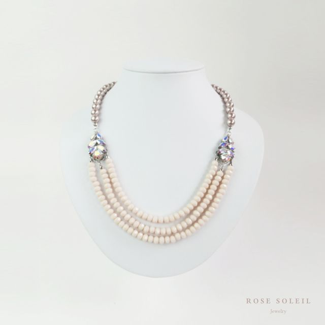 Rose Soleil Jewelry Antique Autumn Collection | ローズソレイユジュエリー ✧ グラスビーズクリスタルネックレス ✧ アンティークオータムコレクション