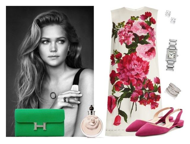 Spring by christiane-piccini-basilio on Polyvore featuring moda, Dolce&Gabbana, Paul Andrew, Hermès, Cartier, Sidney Garber and Valentino