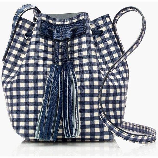 J.Crew Mini Bucket Bag (€125) ❤ liked on Polyvore featuring bags, handbags, shoulder bags, mini purse, pattern purse, mini handbags, miniature purse and drawstring purse