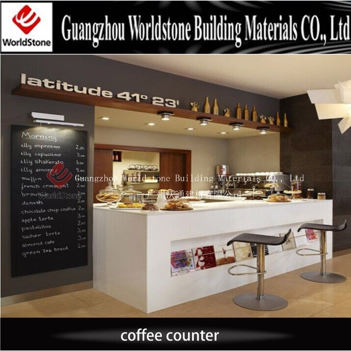 Customized Design Coffee Display Counter For Product On