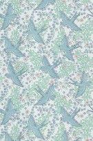 Tapete Naila col.01 | Blumentapete in den Farben hellblau - grün - rosa - lila | Grundton weiß