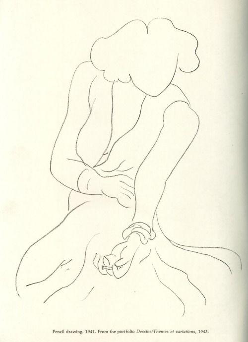 Henri Matisse | Dessins / Thémes et variations, 1943 (Pencil drawing 1941)