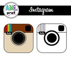 Instagram clipart printable Bulletin Board Freebie