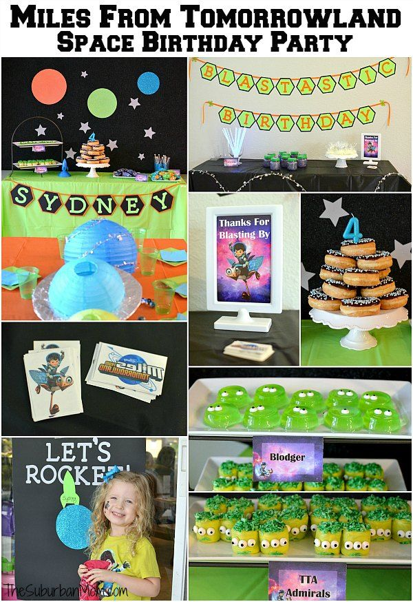 Need an out of this world space birthday party idea? These Miles From Tomorrowland Birthday Party ideas are blastastic! Food, decorations, activities & more