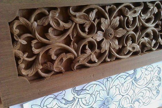 malaysian wood carving