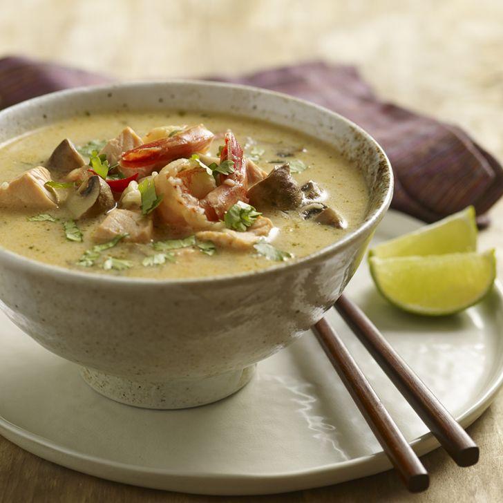 Thai inspireret skaldyrssuppe