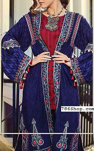 Blue Linen Suit | Buy Maria B Pakistani Dresses and Clothing online in USA, UK