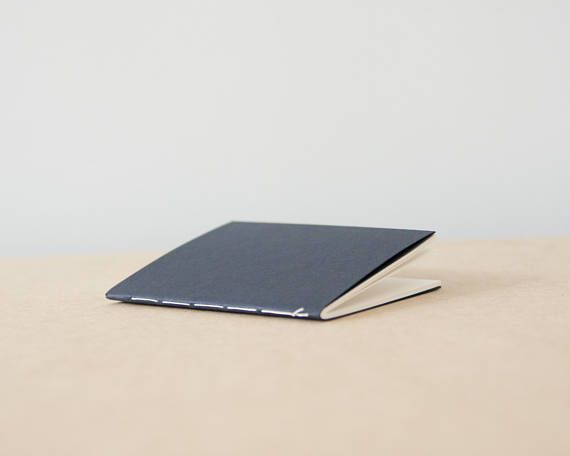 Small Navy Watercolor Softcover Sketchbook   Notebook